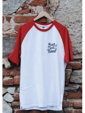 Baseballové tričko s logem BWT-  bílá / červená