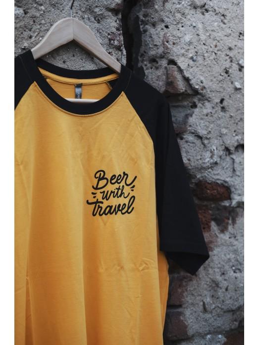 Baseballové tričko s logem BWT-  žlutá / černá
