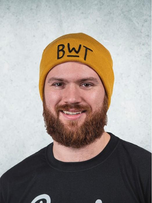 Zimní čapka - hořčicová
