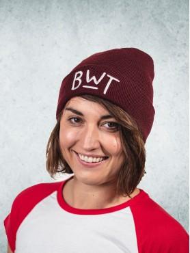 Zimní čapka - burgundy