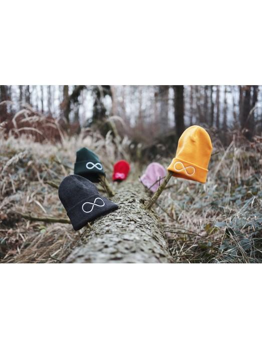 Zimní čapka Hory a nekonečno - růžová