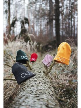 Zimní čapka Hory a nekonečno - zelená