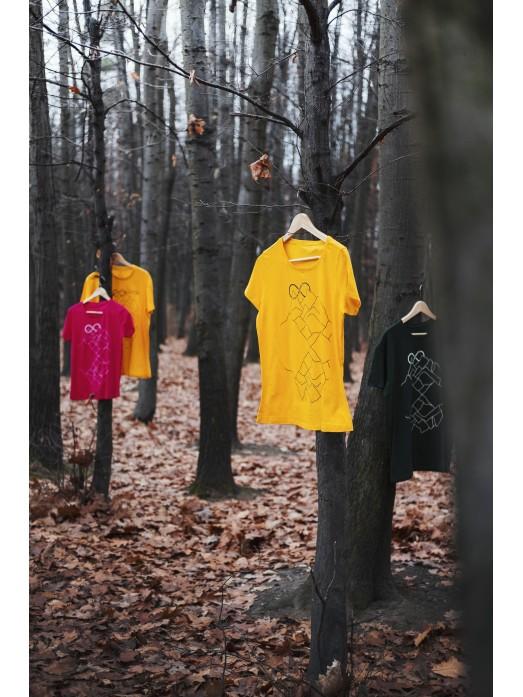 Hory a nekonečno - žluté dámské eko tričko
