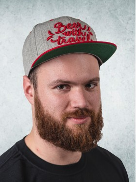 Snapback - Heather / Red